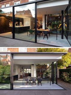 A Contemporary Extension For This House In The Netherlands Bloot Architecture have designed a minimalist house extension in The Netherlands, that contrasts the brick architecture of a house. House Extension Design, Extension Designs, Glass Extension, Brick Architecture, Residential Architecture, Sketch Architecture, Victorian Architecture, Architecture Student, Architecture Portfolio