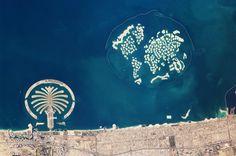 DUbai, UAE. Palm Jumeirah and the World Islands