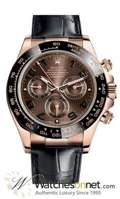 Rolex Daytona  Chronograph Automatic Men's Watch, 18K Rose Gold, Brown Dial, 116515LN-CHOC