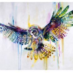 Katy Jade Dobson Art - Owl oil painting