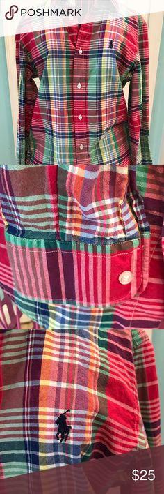 Ralph Lauren Plaid Button Down Lind Sleeve Shirt Ralph Lauren Pink Plaid Button Down Long Sleeve Shirt. Ralph Lauren Tops Button Down Shirts
