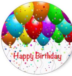 Get your hands on great customizable Happy Birthday Balloons stickers from Zazzle. Choose from thousands of designs or make your own today! Happy Birthday Photos, Happy Birthday Balloons, Birthday Wishes, Aliexpress, Round Stickers, Easter Eggs, Make Your Own, Birthdays, Classic
