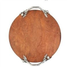 Olive Grove Acacia Wood and Pewter Cheese Board Greek Olympians, Wooden Cheese Board, Cheese Boards, Round Tray, Acacia Wood, Pewter, House, Pure Products, Serveware