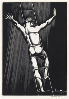 Find artworks by Rockwell Kent (American, 1882 - on MutualArt and find more works from galleries, museums and auction houses worldwide. Rockwell Kent, Black And White Illustration, Male Figure, Wood Engraving, Contemporary Artists, Printmaking, Vintage Art, American, Gallery