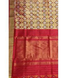 Red Pure Handloom Ikkat Silk Saree