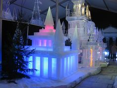 Fantastic ice castles sculpture