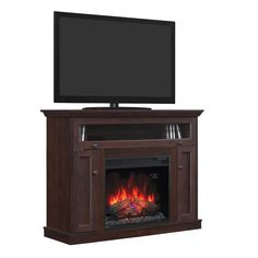 """5 shelves and a perfect spot for this TV will make this fireplace your new favorite movie night spot. Windsor 46"""" Dual ET Fireplace 