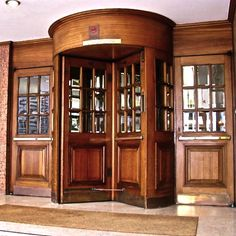 flooring metal inlay lettering mat revolving door - Google Search