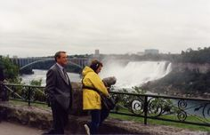 Actor Richard Crenna filming the CBS movie of the week Wallflower at Niagara Falls, September 16, 1993