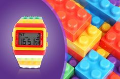 Retro Digital Building Brick Watch