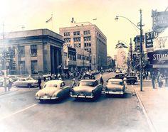 Downtown Windsor, Ontario, 1958 #windsor #ontario