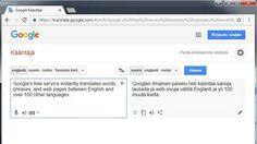 Googlen Kääntäjä ei tee vielä aivan moitteetonta jälkeä edes omaa esittelytekstiään kääntäessään.