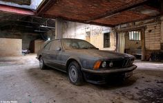 Lost BMW in a abandoned factory in Belgium urbex decay www.lost-in-time-ue.nl
