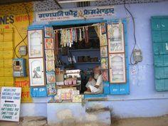 Une boutique de soins naturels à Pushkar