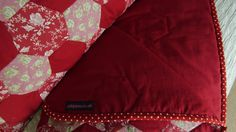 Red patchwork quilt commission - and one very happy client!