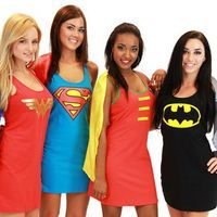 Batman is for Rhett!    Superhero Dress Costumes With Cape. from CherryKreations21