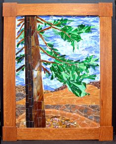 redwood stained glass mosaic