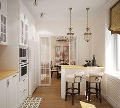 Дизайн трехкомнатной квартиры в районе ст.м. Бауманская г. Москва в стиле современной классики