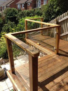 Garden balustrade glass - Exeter, Devon - Clearly Glass