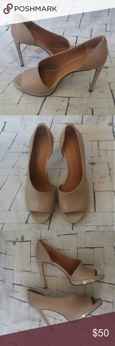 17d372b99 Calvin Klein Clay Saira Polished Calf Pumps Sz 8M Calvin Klein Clay women s  Saira Polished Calf