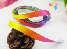 25yards/lot 3/8' 10mm Rainbow Color Satin Ribbon Packing Craft DIY Headwear and Sewing Accessories ** Continue to the product at the image link.