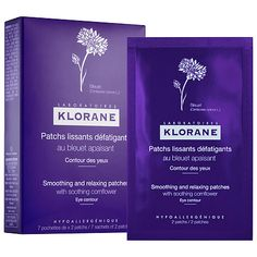 Smoothing and Relaxing Patches with Soothing Cornflower - Klorane | Sephora