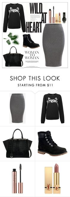 """""""."""" by carolinedevine ❤ liked on Polyvore featuring Fendi, Timberland and Yves Saint Laurent"""