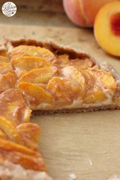 Peaches and Cream Crostata Recipe l www.a-kitchen-addiction.com