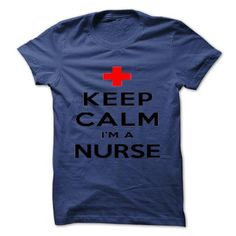 KEEP CALM IM AN NURSE - #homemade gift #gift for mom. ORDER NOW => https://www.sunfrog.com/Funny/KEEP-CALM-IM-AN-NURSE.html?68278