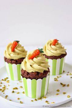 Cupcakes mit Glinitzer's Wiener Salon Nougat bei Sweets and Lifestyle #ichbacksmir #ostern #osterkuchen #easter