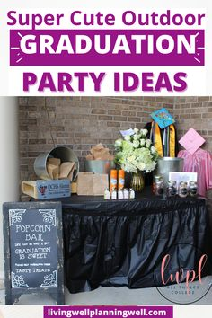 Looking for graduation party inspiration? You will love these unique outdoor graduation party ideas and graduation party invites. Graduation Party Desserts, Outdoor Graduation Parties, Graduation Party Planning, Graduation Party Themes, Graduation Party Invitations, Invites, High School Parties, Theme Ideas, Party Ideas