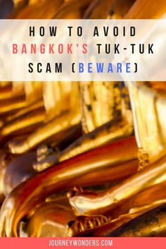 Interested in knowing how to turn the tables on the the Tuk-Tuk Scam? Here's how to score a Free Tuk-Tuk ride in Bangkok, Thailand and avoid Travel Scams.