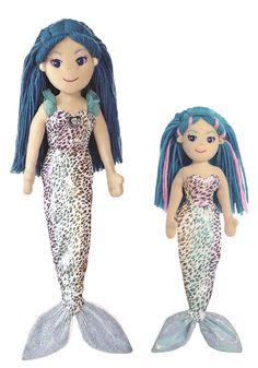 Sea Sprites 2 Sizes Soft Toy Nerine Sparkles Blue Mermaid Plush Doll Teddy Gift…