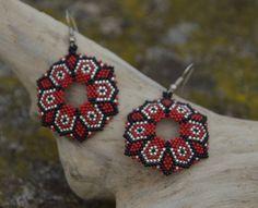 beaded earrings  beadwork jewelry  ethnic style  от BEhAnDson
