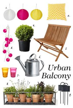 Urban balcony // garden patio idea-Like the terracotta pots and the sofa Condo Balcony, Apartment Balconies, Small Outdoor Spaces, Outdoor Living, Outdoor Decor, Balcony Ideas, Patio Ideas, Garden Spaces, Apartment Living