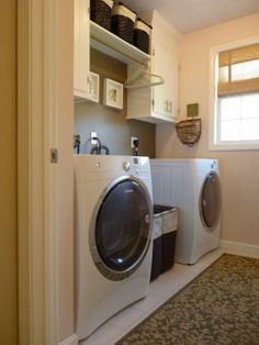 """Get fantastic ideas on """"laundry room storage small shelves"""". They are actually readily available for you on our site. Tiny Laundry Rooms, Laundry Room Remodel, Farmhouse Laundry Room, Laundry Closet, Laundry Room Organization, Laundry Cupboard, Compact Laundry, Laundry Nook, Basement Laundry"""