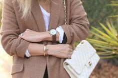 Hermes Watch // Cartier Bracelets// Chanel purse | Damsel in Dior- my 3 favorite brands.. perfect combo