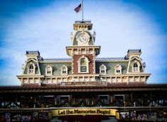 As you enter the Magic Kingdom, you'll notice that you pass right under the Walt Disney World Railroad Depot. Some file on in and head down Main Street USA, but if your goal is to get to Frontierland or Fantasyland, you might want to stop here. The Walt Disney World Railroad makes 3 stops. If the park was a clock with the entrance at