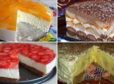 Czech Recipes, Ethnic Recipes, Mini Cheesecakes, Polish Recipes, Graham Crackers, No Bake Desserts, Oreo Cheesecake, Tiramisu, Deserts