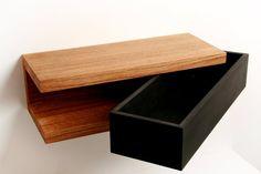 Console with storage compartment Diy Pallet Furniture, Diy Furniture Projects, Diy Wood Projects, Furniture Design, Wood Projects For Beginners, Bedroom Pop Design, Home Room Design, Bookshelf Design, Wall Shelves Design