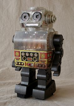 1960s Tin Litho & Plastic Battery Operated Robot Toy