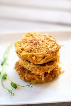 Quinoa Potato Pancakes  - I'd make these w/sweet potatoes, kohlrabi or  parsnips instead of potato.