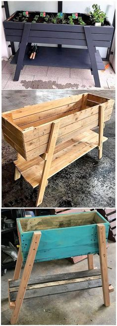 Use Pallet Wood Projects to Create Unique Home Decor Items Wood Pallet Planters, Pallet Boxes, Wooden Pallets, Pallet Wood, Unique Home Decor, Home Decor Items, Wood House Design, Diy Pallet Projects, Pallet Ideas