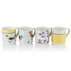 Ashley Thomas edition debenhams stacking bird mugs