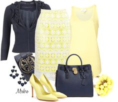 """""""Navy and Yellow ..."""" by mrsbro ❤ liked on Polyvore"""