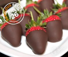 Chocolate dipped strawberries are a fantastic idea for a romantic Valentine's Day treat.