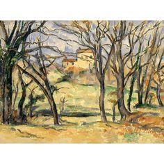 Reprodukcja obrazu na płótnie Trees and Houses Near the Jas de Bouffan - Paul Cezanne dostępna w rozmiarach 80x60, 70x50, 60x45, 40x30 #fedkolor #reprodukcje #obraznapłótnie #PaulCezanne #Cezanne #krajobraz #pejzaż #widok #drzewa #domy #dodomu #dosalonu #dobiura #dogabinetu #malarstwo #obraz #sztuka #ozdoby #naścianę #dekoracje