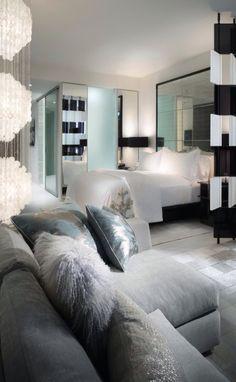 modern bedroom & seating area⭐️