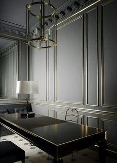 Oh that wall paneling is sublime. Luv the colours and the glamour of it