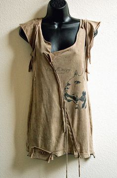 One of a kind upcycled Nestor Pants pit bull tshirt   by KayLim, $68.00